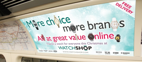 Tube card campaign for Watch Shop
